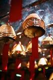 L'encens enroule, dans un temple chinois, Hong Kong. Photos libres de droits