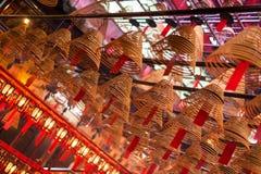 L'encens love et souhaite à l'homme Mo Temple, Hong Kong Image stock