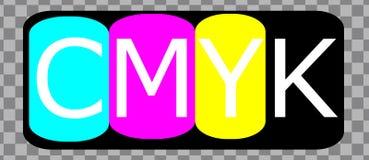 L'encre de CMYK colore le vecteur Logo Illustration illustration stock