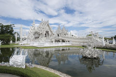 L'endroit célèbre de temple de la Thaïlande dans le chiangrai Wat Rong Khun est le m Image libre de droits