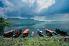 L'endroit célèbre, Thaïlande, barrage, énergie hydroélectrique, a construit Structur image stock