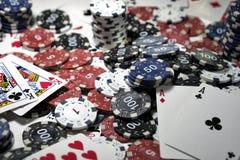 L'endroit d'un joueur de poker Image stock