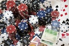 L'endroit d'un joueur de poker Photographie stock