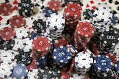 L'endroit d'un joueur de poker Photographie stock libre de droits