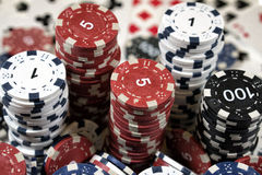 L'endroit d'un joueur de poker Photos stock