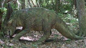L'endroit de dinosaure chez Art Village de la nature dans Montville, le Connecticut Photos libres de droits
