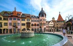 L'endroit de l'Europe, Komarno, Slovaquie image stock