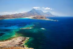 Lagune Balos, Gramvousa, Crète, Grèce Images libres de droits