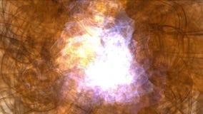 l'energia del magma di esplosione 4k, nuvole appanna il fumo della spruzzata, particelle dei fuochi d'artificio del gas del fuoco video d archivio