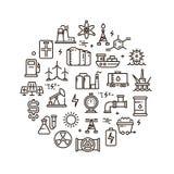 L'energia, il potere ed il combustibile vector la linea icone Immagini Stock Libere da Diritti