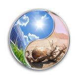 L'energia solare può conservare il nostro pianeta Fotografia Stock Libera da Diritti