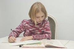 L'enfant apprend Photo libre de droits