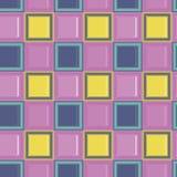 L'enfant carré a coloré le modèle sans couture de vecteur de tuile mozaic en verre Images libres de droits