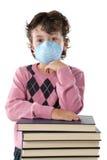 L'enfant d'étudiant a infecté avec la grippe A photos stock