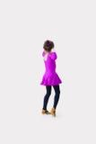 L'enfant danse le port dans le costume de danse Photographie stock