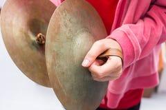 L'enfant de cymbales Photos libres de droits