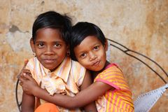 L'enfant de fille est spécial Photos libres de droits