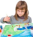 L'enfant dessine images libres de droits