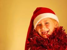 L'enfant a excité au sujet de Noël Photos stock