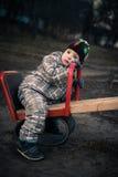 L'enfant fatigué Photos libres de droits