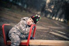 L'enfant fatigué Image stock