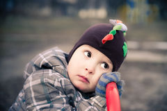 L'enfant fatigué Image libre de droits