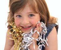 L'enfant heureux de visage. Image libre de droits