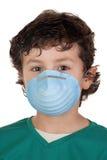 L'enfant a infecté avec la grippe A photos stock