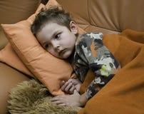 L'enfant malade Photographie stock libre de droits