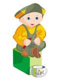 L'enfant - pêcheur Images libres de droits