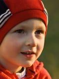 L'enfant sur le soleil Photographie stock libre de droits