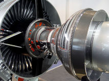 L'engine de l'avion Images stock