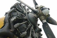 L'engine de l'avion puissant, d'isolement image libre de droits