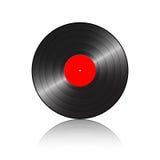 L'enregistrement de phonographe avec se reflètent illustration de vecteur