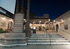 L'enseigne au néon de maison de théâtre de Pasadena Photo stock