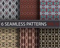 L'ensemble, collection, emballent les modèles sans couture de vecteur universel, couvrant de tuiles Ornements géométriques Images stock
