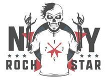 L'ensemble d'étoile de rock pour des T-shirts et le tatouage conçoivent Photo stock