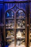 L'ensemble d'appui verticaux de Harry Potter And The Goblet de Noël du feu Photo libre de droits