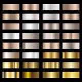 L'ensemble d'argent, le bronze et la feuille d'or donnent au fond une consistance rugueuse de gradation Vecteur Photo stock