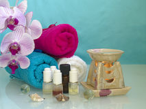 L'ensemble d'aromatherapy Photos stock