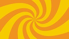 L'ensemble d'hypnotique rayonne des rotations, animation faite une boucle de milieux de HD illustration stock