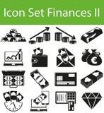L'ensemble d'icône finance II Images stock