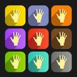 L'ensemble d'icône plate de vecteur remet l'ENV Photographie stock libre de droits