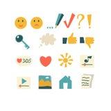 L'ensemble d'icônes de vecteur, boutons pour l'application conçoivent Image stock