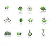 Icônes vertes illustration de vecteur
