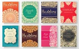 L'ensemble d'insecte traditionnel pagine le concept d'illustration d'ornement Art de vintage traditionnel, l'Islam, l'arabe, Indi illustration stock