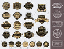 L'ensemble d'insignes, logotypes, joints, emboutit illustration libre de droits