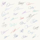 L'ensemble d'unique hanwritten des signatures illustration de vecteur