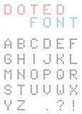 L'ensemble d'uppercasse a pointillé des lettres - police d'alphabet faite en petit c Image libre de droits
