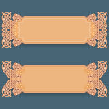 L'ensemble de bannières avec le vintage, ornamental, arabesques conçoivent Photo stock